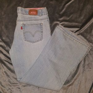 Levis girls size 14.5+ girls, 517 flare stretch
